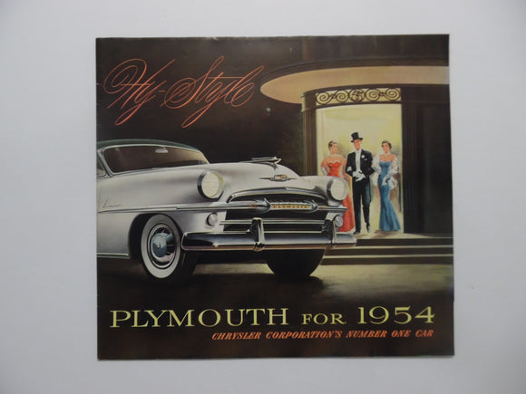 1954 Plymouth Car Brochure Belvedere Plaza Savoy Vintage Original