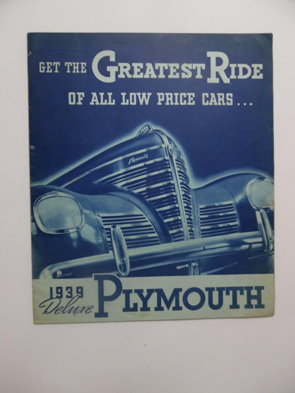 1939 Plymouth Deluxe Brochure