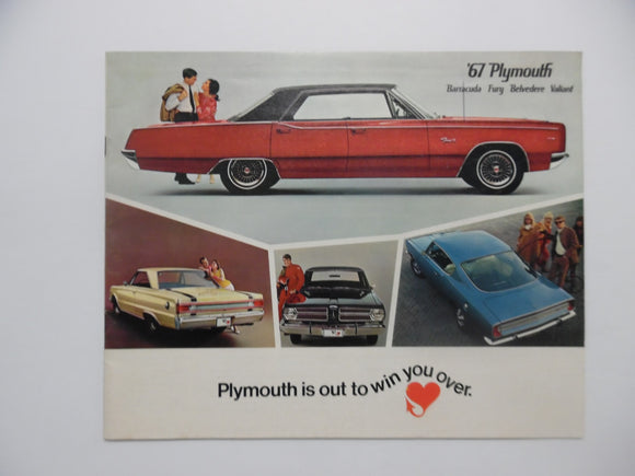 1967 Plymouth Car Brochure Barracuda Fury Belvedere Valiant Vintage Original