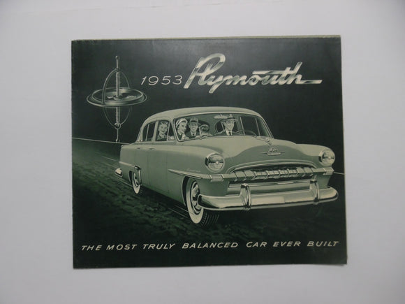 1953 Plymouth Cranbrook Cambridge Car Brochure Belvedere Savoy Vintage Original