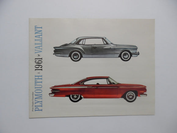 1961 Plymouth Valiant Car Brochure Fury Belevedere Savoy Vintage Original