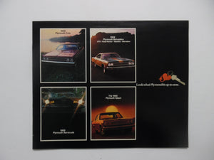 1969 Plymouth Car Brochure Fury Belvedere Barracuda Valiant Vintage Original