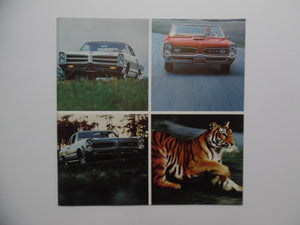 1966 Pontiac GTO Performance Car Sales Brochure Vintage Original