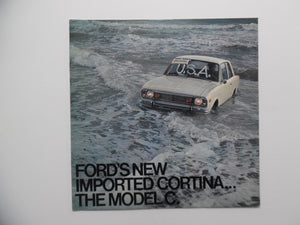 1968 Ford Corina Model C Import Car Brochure GT Deluxe Wagon Vintage Original