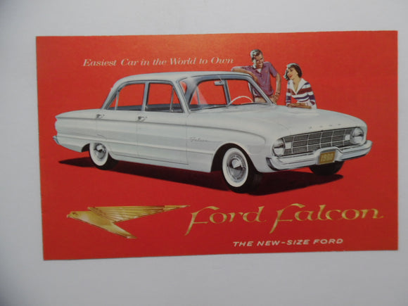 1960 Ford Falcon Car Sales Brochure Tudor Fordor Vintage Original