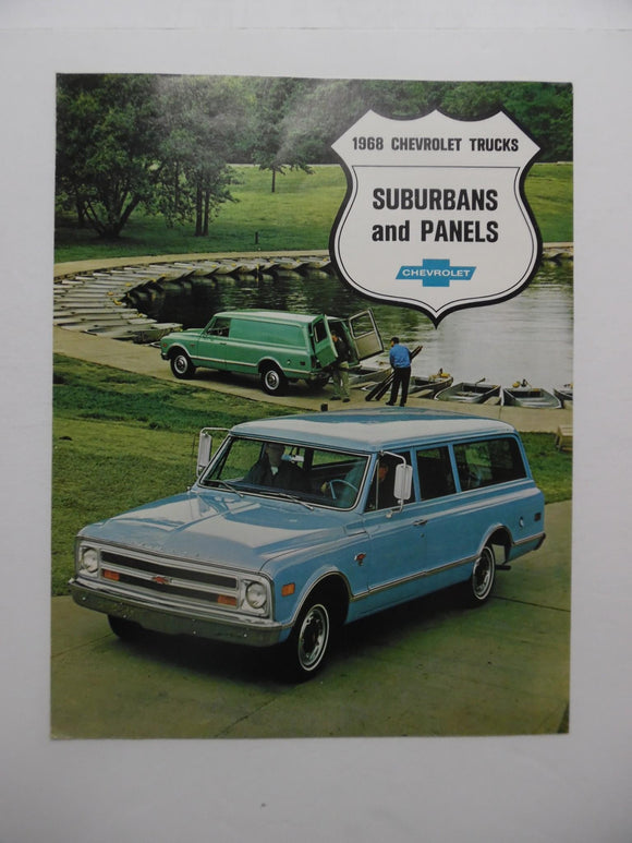 1968 Chevrolet Trucks Suburbans Panels Brochure Vintage Original