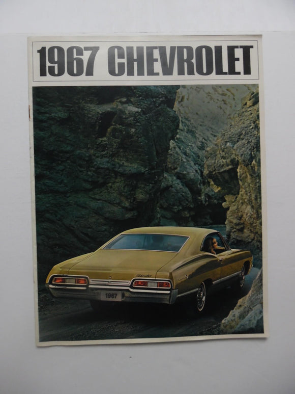 1967 Chevrolet Full Line Car Brochure Caprice Impala Bel Air Biscayne Original