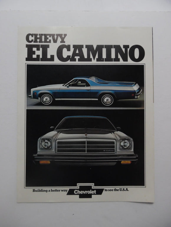 1974 Chevrolet El Camino Features Brochure Conquista SS Estate Vintage Original