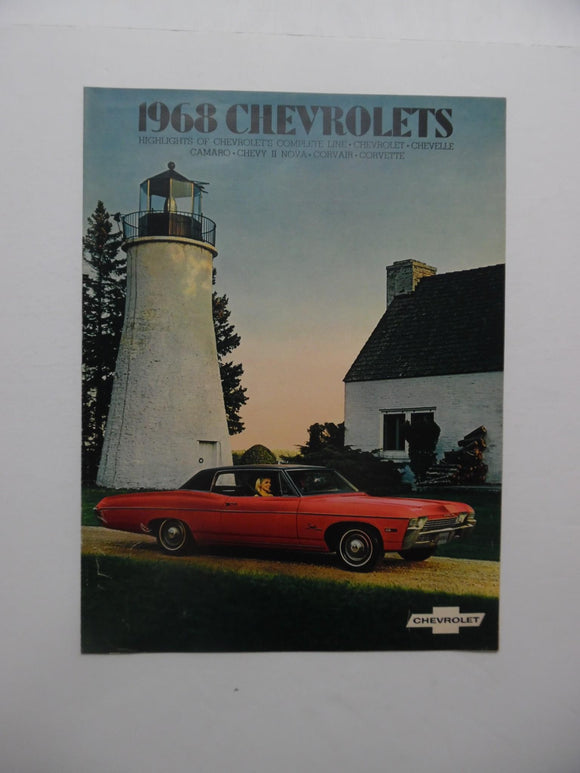 1968 Chevrolet Full Line Car Brochure Vintage Original Chevelle Camaro Corvair