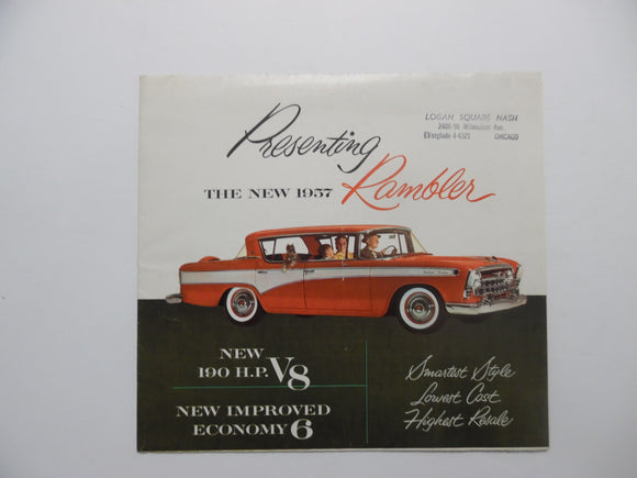 1957 AMC Rambler Car Brochure V8 Economy 6