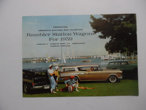 1959 Rambler American Station Wagon Rebel 6 AMC Car Brochure