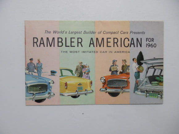 1960 Rambler American AMC Dealer Showroom Compact Car Brochure