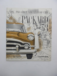 1953 Packard Clippers Full Line Car Brochure Mayfair Patrician Vintage Original