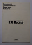 1979 Fiat 131 Racing Colour Range Foldout Brochure Vintage Original