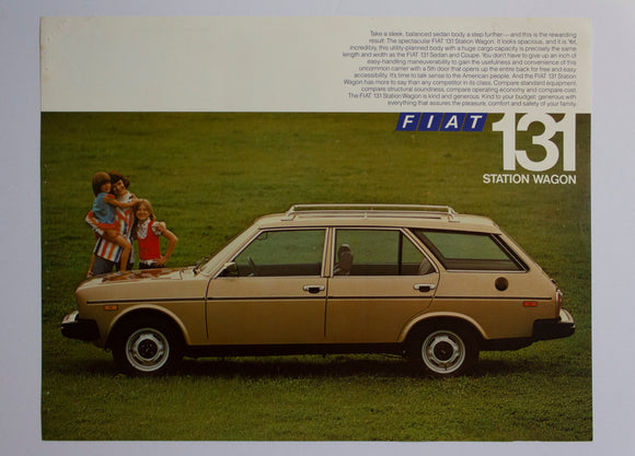 c. 1977 Fiat 131 Station Wagon Brochure Vintage Original