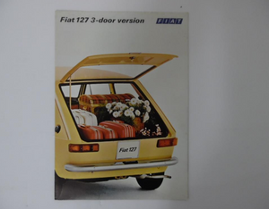 "1971 Fiat 127 ""3-door version"" Brochure Vintage Original"