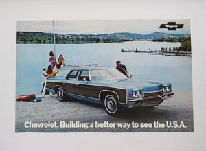 1971 Chevrolet Wagons Brochure Kingswood Townsman Brookwood Concours Greenbrier Nomad