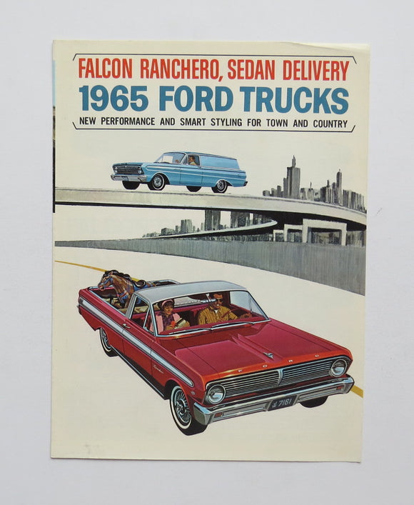 1965 Ford Trucks Brochure Falcon Ranchero Sedan