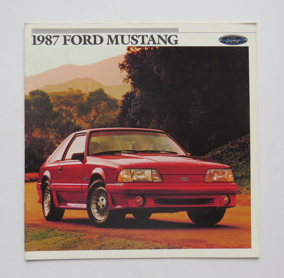 1987 Ford Mustang Brochure GT