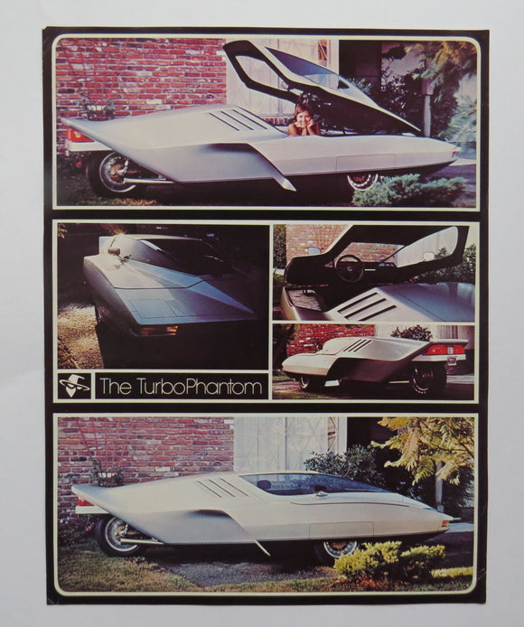 1979 Turbo Phantom 3 Wheel Rocket Car Honda 1000 Motorcycle Brochure