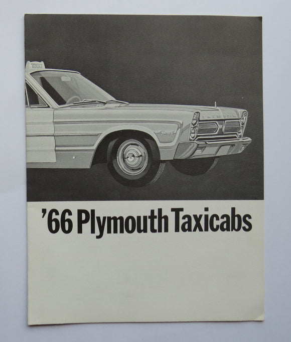1966 Chrysler Plymouth Taxicab Brochure Fury Belvedere