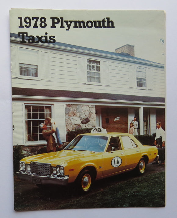1978 Chrysler Plymouth Taxis Brochure Volare Fury Voyager