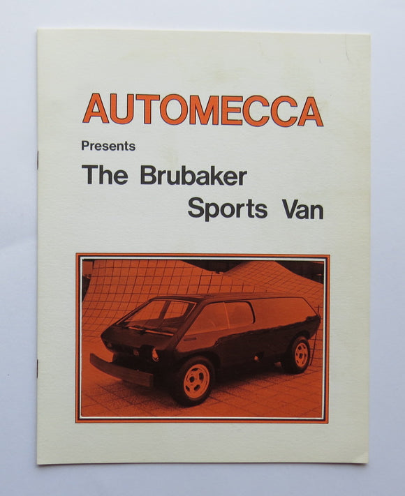 1974 Brubaker Sports Van Volkswagen Beetle Kit Car Brochure Automecca
