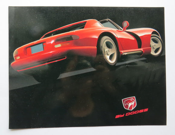 1991 Dodge Viper Book and Poster Brochure RT/10