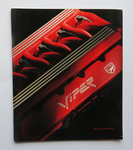 1991 Dodge Viper Brochure RT/10