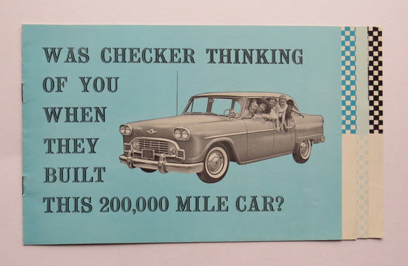 1960 Checker Superba Taxi Cab Brochure
