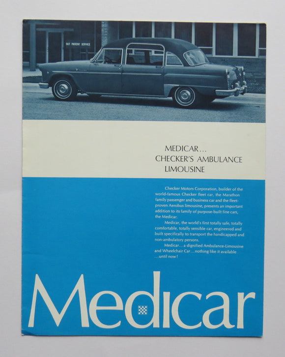1969 Checker Medicar Ambulance Limousine Brochure