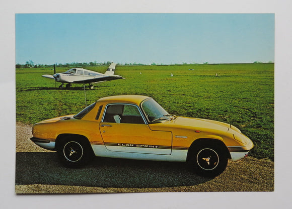 Lotus Elan Post Card Brochure Sales Literature Lotus
