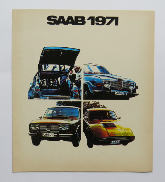 1971 Saab Full Line Brochure 95 96 99