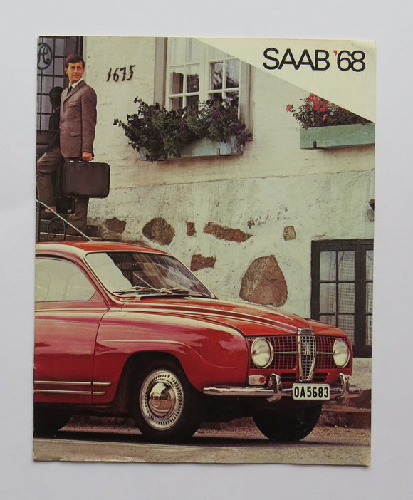 1968 Saab Full Line Brochure Sedan Wagon Sonett II