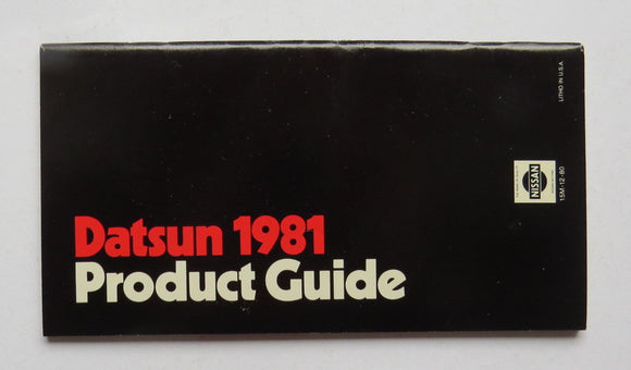 1981 Datsun Product Guide Brochure 210 310 200 810
