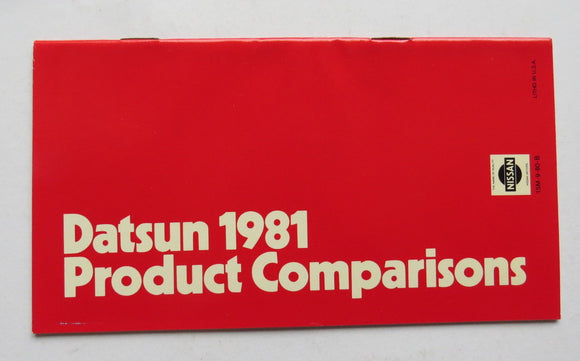 1981 Datsun Product Comparisons Brochure 210 310 510 200 810 280