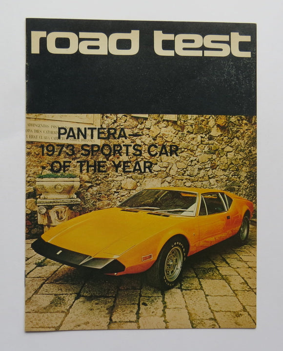 1973 DeTomaso Pantera Brochure Road Test