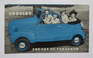 1939 Crosley Convertible First Brochure The Car of Tomorrow