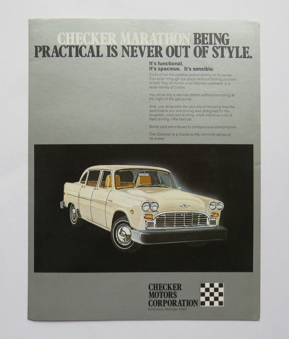 1980 Checker Marathon Brochure
