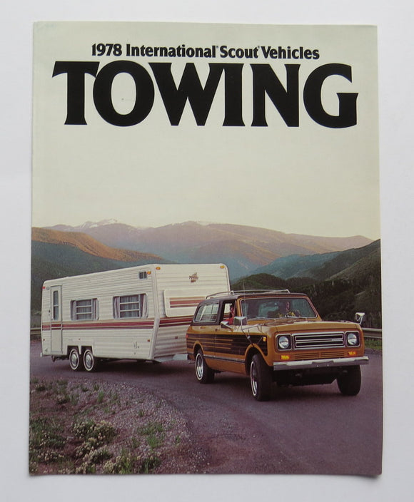 1978 International Harvester Scout Towing Brochure