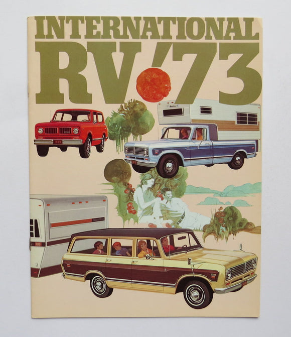 1973 International Harvester RV Brochure Camper Pickup Truck Travelall Scout