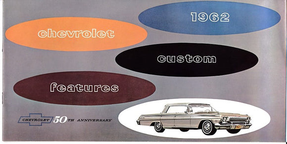 1962 Chevrolet Chevy II Custom Features Accessories Catalog Brochure