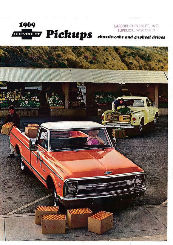 1969 Chevrolet Pickup Truck Full Line Brochure Fleetside Stepside 4-Wheel Drive