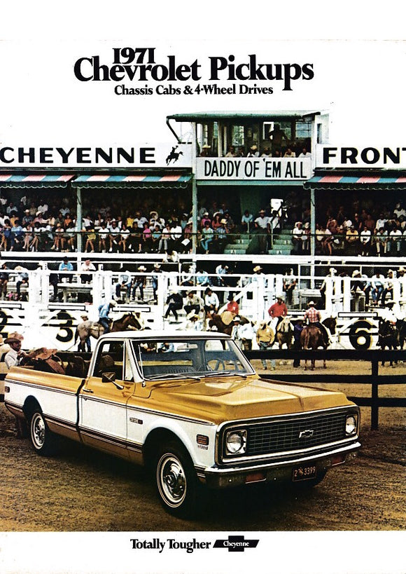 1971 Chevrolet Pickup Truck Chassis Cab & 4-Wheel Drive Full Line Brochure