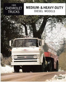 1965 Chevrolet Medium & Heavy Duty Diesel Truck Brochure D50 Q50 D60 D80