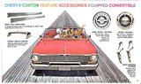 1963 Chevrolet Chevy II  Custom Features Accessories Catalog Brochure