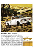 1967 Chevrolet Pickup Truck Full Line Brochure Fleetside Stepside 4-Wheel Drive
