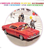 1963 Chevrolet Corvair Custom Features Accessories Catalog Brochure