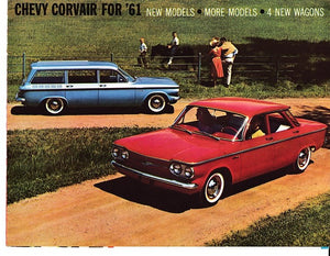 1961 Chevrolet Corvair Brochure Monza Station Wagon Lakewood