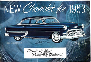 1953 Chevrolet Full Line Foldout Brochure Bel Air Two-Ten One-Fifty